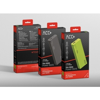 Powerbank ACC+ Thin 10000 mAh Fast charge Czarny