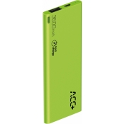 Powerbank ACC+ Thin 3600mAh Fast charge Zielony